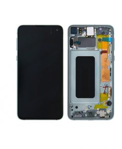 For Samsung Galaxy S10e OLED Screen with Frame Assembly Replacment - Prism Green