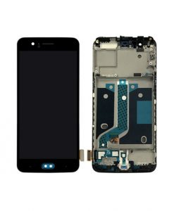 OEM Screen and Digitizer Assembly With Frame Replacement For OnePlus 5 - Black