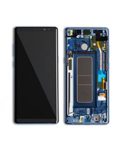 OEM Super AMOLED Screen Replacement with Frame for Samsung Galaxy Note 8 - Deepsea Blue