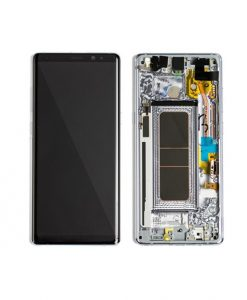 OEM Super AMOLED Screen Replacement with Frame for Samsung Galaxy Note 8 - Orchid Gray