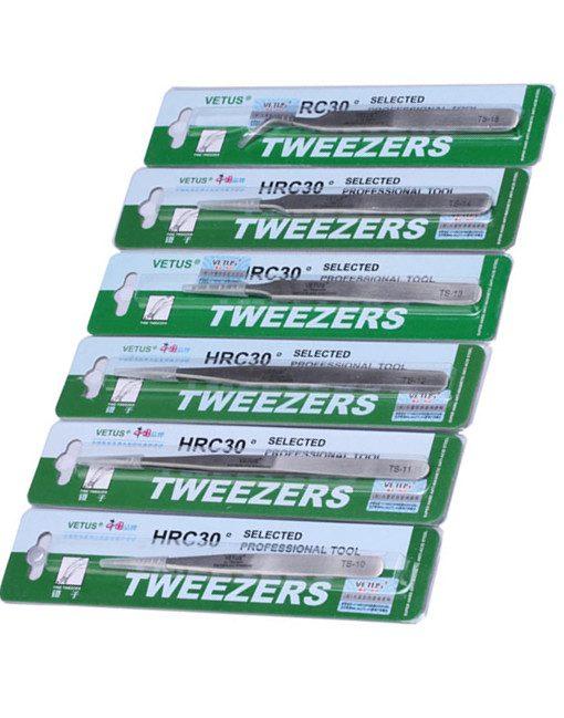 6 in 1 Switzerland Precision Tweezers Stainless Steel Vetus Tweezers Ferramentas BGA Hand Tools