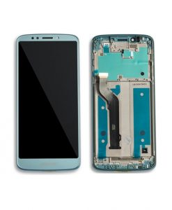 For Motorola Moto E5 Plus (XT1924) LCD and Digitizer with Frame Assembly Replacement - Blue