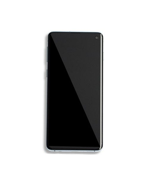 For Samsung Galaxy S10 Screen With Frame Replacement - Prism Blue