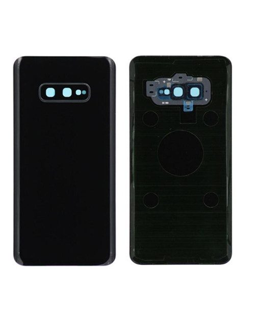For Samsung Galaxy S10e Battery Cover with Camera Glass Replacement - Black (Aftermarket)