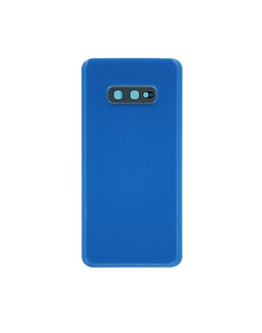 For Samsung Galaxy S10e Battery Cover with Camera Glass Replacement - Blue (Aftermarket)