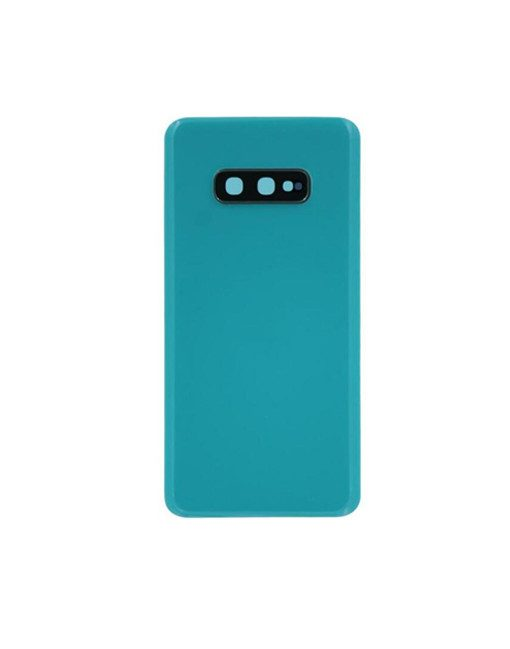 For Samsung Galaxy S10e Battery Cover with Camera Glass Replacement - Green (Aftermarket)