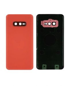 For Samsung Galaxy S10e Battery Cover with Camera Glass Replacement - Pink (Aftermarket)