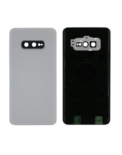 For Samsung Galaxy S10e Battery Cover with Camera Glass Replacement - White (Aftermarket)