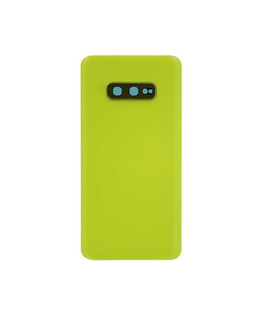 For Samsung Galaxy S10e Battery Cover with Camera Glass Replacement - Yellow (Aftermarket)