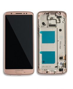 For Moto G6 LCD Screen Assembly With Frame Replacement - Oyster Blush