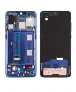 For Xiaomi Mi 9 Front Housing Display Frame Replacement - Blue