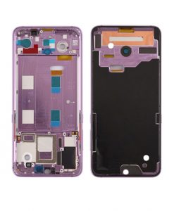 For Xiaomi Mi 9 Front Housing Display Frame Replacement - Purple