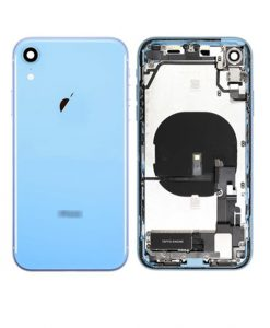For iPhone XR Rear Housing Full Assembly Replacement - Blue