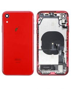 For iPhone XR Rear Housing Full Assembly Replacement - Red