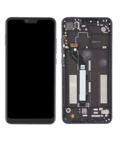 LCD Display and Touch Screen Digitizer Assembly with Frame Replacement For Mi 8 Lite - Black