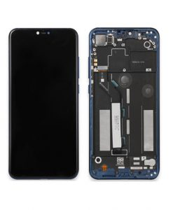 LCD Display and Touch Screen Digitizer Assembly with Frame Replacement For Mi 8 Lite - Blue