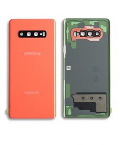 OEM Battery Cover with Camera Glass for Samsung Galaxy S10 Plus - Flamingo Pink