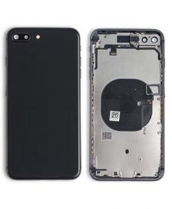 Rear Housing Replacement with Buttons for iPhone 8 Plus - Space Gray