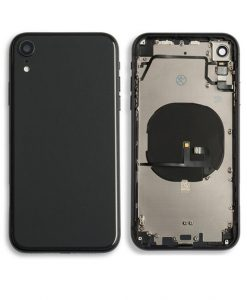 Rear Housing Replacement with Buttons for iPhone XR - Black