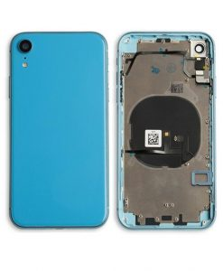 Rear Housing Replacement with Buttons for iPhone XR - Blue