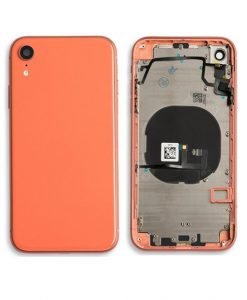 Rear Housing Replacement with Buttons for iPhone XR - Coral