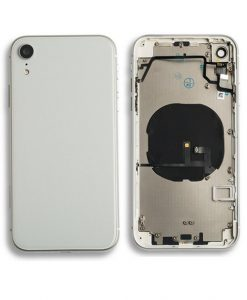 Rear Housing Replacement with Buttons for iPhone XR - White