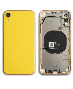 Rear Housing Replacement with Buttons for iPhone XR - Yellow