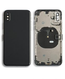 Rear Housing Replacement with Buttons for iPhone XS - Black