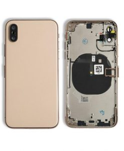 Rear Housing Replacement with Buttons for iPhone XS - Gold