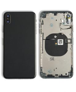 Rear Housing Replacement with Buttons for iPhone XS Max- Black