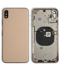 Rear Housing Replacement with Buttons for iPhone XS Max- Gold