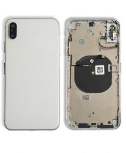 Rear Housing Replacement with Buttons for iPhone XS Max- Silver
