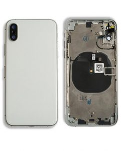 Rear Housing Replacement with Buttons for iPhone XS - Silver