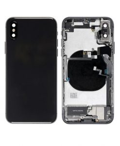 Rear Housing Replacement with Small Parts for iPhone XS - Black