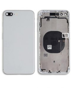 Rear Housing with Buttons for iPhone 8 Plus - White