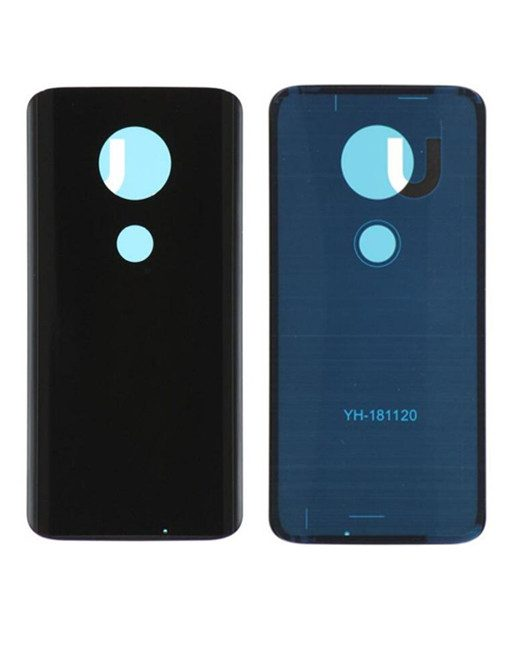 Back Cover with Adhesive For Moto G7 - Black
