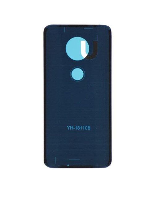 Back Cover with Adhesive For Moto G7 - White
