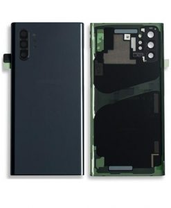 OEM Back Glass with Camera lens For Galaxy Note 10 Plus - Aura Black