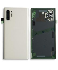OEM Back Glass with Camera lens For Galaxy Note 10 Plus - White