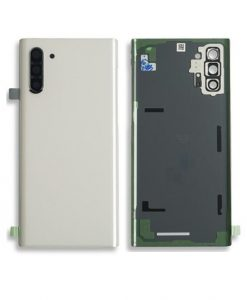 OEM Back Glass with Camera lens For Galaxy Note 10 - White