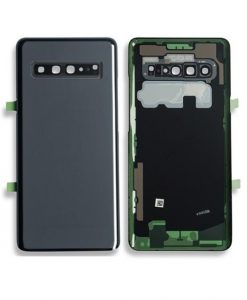 OEM Back Glass with Camera lens For Galaxy S10 5G - Black