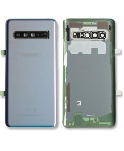 OEM Back Glass with Camera lens For Galaxy S10 5G - Silver