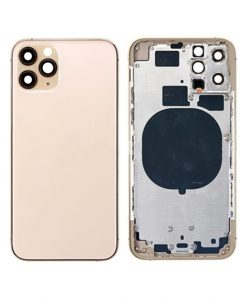 Replacement Rear Housing with Frame For iPhone 11 Pro - Gold