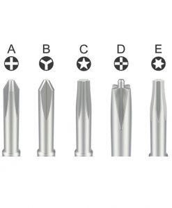5pcs Qianli mega-idea 2D Aluminium Precision Screwdriver Set Opening Repair Tools Kit for iPhone Android Mobile Phone Repair Tools