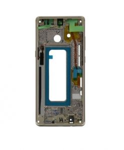 Mid Frame Replacement For Samsung Galaxy Note 8 - Gold