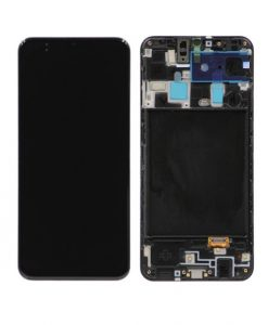 OEM Screen Replacement with Frame For Samsung Galaxy A20 (2019) - Black