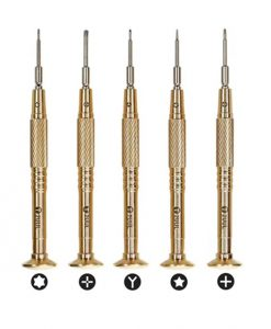 2UUL Brass Handle Heavy Weight Screwdriver For Mobile Phone Repair