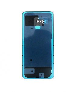 For Galaxy A8 2018 Battery Cover with Camera Glass Replacement - Black