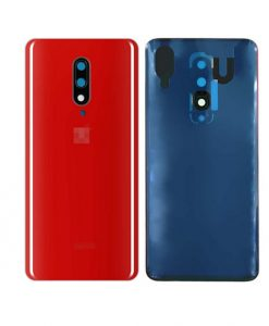 For Oneplus 7 Pro Battery Cover with Camera Glass Replacement - Red