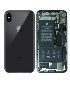 For iPhone XS Max Back Housing with Small Parts Battery Back Camera Replacement - Black